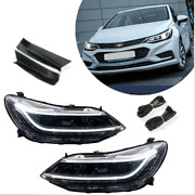 For Chevrolet Cruze 16-19 Led Headlamps Led Drl Replace Oem Halogen Sequential