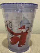 Starbucks 2012 Red Fox Mermaid Cold Insulated 12oz To Go Tumbler With Lid
