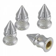 Chevy Valve Stem Caps Chrome Spike 1955-1957 57-330203-1