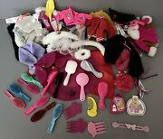 Old Mattel Barbie Doll Clothes Lot Coats Jackets Cloaks Capes And Brushes