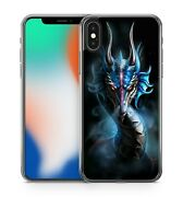 Delightful Ultra Powerful Celestial Divine Blue Angry Dragon Soft Gel Phone Case