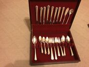 Holmes And Edwards 1949 Spring Garden Pattern Silverplate Flatware 53 Pieces