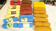 Large Lot Of 6 Lbs Vintage Yarn Skeins, Acrylic, Many Colors