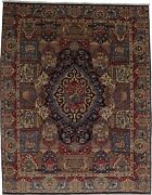 Semi Antique Pictorial Vintage 9and0398x12and0395 Handmade Oriental Rug Home Decor Carpet