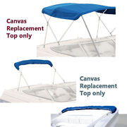 Bimini Top Boat Cover Canvas Fabric Bluewith Boot Fits 3 Bow 72l 54h 54-60w