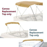 Bimini Top Boat Cover Canvas Fabric Tan With Boot Fits 3 Bow 72l 54h 54-60w