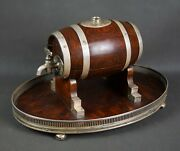 Art Deco Whiskey Barrel Silver Sheffield Mappin And Webb 1920s.