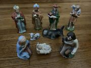 Vintage Homco 9-pc Full Nativity Set 5216 - Complete - Great Condition
