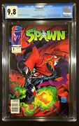 Spawn 1 Cgc 9.8 Newsstand Variant Rare Low Print 10 Estimate Of Regular