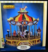 Lemax Village Collection Belmont Carousel Animated Musical Merry-go-round - Mint