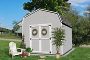 Little Cottage Company Value Gambrel Barn 6and039 Sidewall In 17 Sizes Opt. Floor Kit