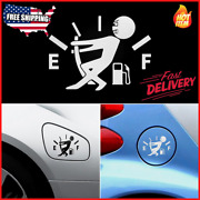 Funny Car Stickers High Gas Consumption Decal Fuel Gage Empty Stickers Vinyl