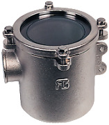 Boat Marine Nickel Plated Cooling Water Strainer Robust 1-1/4 H178mm 12500l/h