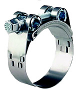 Boat Marine Stainless Steel Hose Clamps Bolt 113-121mm Width 24mm Thickness 15mm