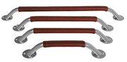 Boat Marine Allpa Steel Grab Rail With Leather Cover 24x20mm Oval H73mm L280mm