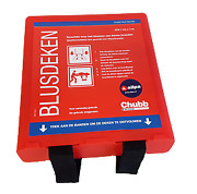 Boat Marine Allpa Fire Blanket Ajax 1100x1100mm With Red Mounting Bracket
