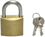 Boat Marine Allpa Brass Padlock With Stainless Steel Shackle Dimensions 40x33mm
