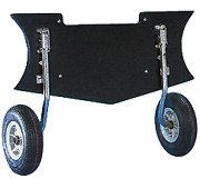 Boat Marine Couple Of Launching Wheels Boats Extended Flaps Floor 100kg Folding