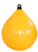Boat Marine Allpa Solid Head Buoy 450 L620mm Yellow With Black Head Size 2