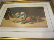 Charles Detmold,two Fruit And Nuts, Still Lifes Watercolors On Paper,famed Brit