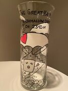 Marshmallow Drops Vase Hand Painted Glass Vase Ncled Fepssi