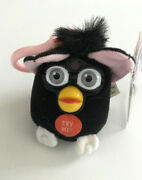 Talking Key Chain Furby 1999 Black Attached Tags + Label + Sticker Collectible