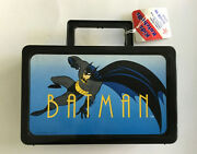 Animated Batman Plastic Lunchbox Tote W/tag 1992 Vintage Collectible