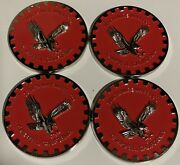 """Zenith Wire Wheels Chips 4 Campbell California Red And Chrome Size 2.25"""""""