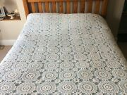 Vintage Hand Made Crochet Bedspread Or Tablecloth