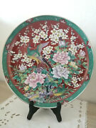 Nice Vintage Japanese Porcelain Plate - Signed By Eiwa Kinsei Dating 1980's