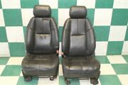 Note07-14 Gm Suv Black Leather Heated Power Front Bucket Seats Pair 2x Oem