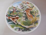 Antique French Plate Made By Sarreguemines Dv France - Pheasant Hunting