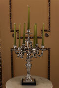 Vintage Candelabrum/table Candlestick In Antique Rococo Style
