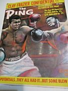 May 1971 The Ring Magazine Boxing Wrestling Cassius Clay Joe Frazier E014