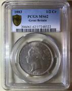 Great Britain Victoria Young Head Silver Coin 1883 Pcgs Ms 62 Free Shipping8467n
