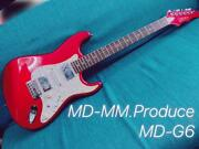 Md-mm.produce Md-g6 St Type Electric Guitar W/soft Case Ships Safely From Japan