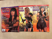 1998 Xena Warrior Princess Official Magazine 1 2a 2b Topps W/ Posters