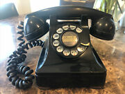 Vintage Black Western Electric Company 302 Rotary Phone W/ Lehigh Number