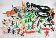 Bundle Of Plastic Toy Insects/farm And Wild Animals/dinosaurs