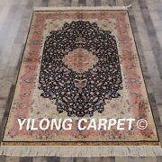 Yilong 4'x6' Handknotted Silk Carpet Exclusive Home Decor Oriental Rug Yl67a