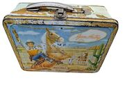 Rare Vintage 1954 Universal Gene Autry Melody Ranch Western Lunch Boxno Thermos