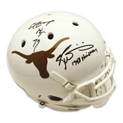 Earl Campbell And Ricky Williams Duel Signed Texas Longhorns Schutt Authentic Fu
