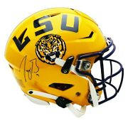 Joe Burrow Signed Autographed Yellow Lsu Tigers Riddell Speed Flex Authentic Hel