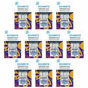 50 Schmetz Gold Embroidery Sewing Machine Needles - Size90/14 - Box Of 10 Cards