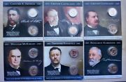 President Collection U.s.dollar Series 6 President 1 Coin Set Gift Package 12pc