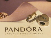 Authentic Pandora Silver And 14k Gold Two Tone Key To My Heart Charm - 790288