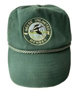 Vintage Geese Unlimited Snapback Baseball Cap Green Trucker Hat One Size Rare