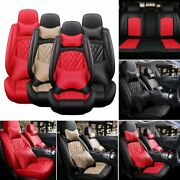 Car Seat Covers Front Rear Protect 5-sit Interior Cushion Pu Leather Accessories