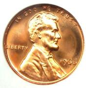 1966 Sms Lincoln Cent 1c Penny - Ngc Ms68 Rd Cameo - 2500+ Value - Top Pop 3/0