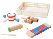 Melissa And Doug Band-in-a-box Drum Click Clack, Set Of 6